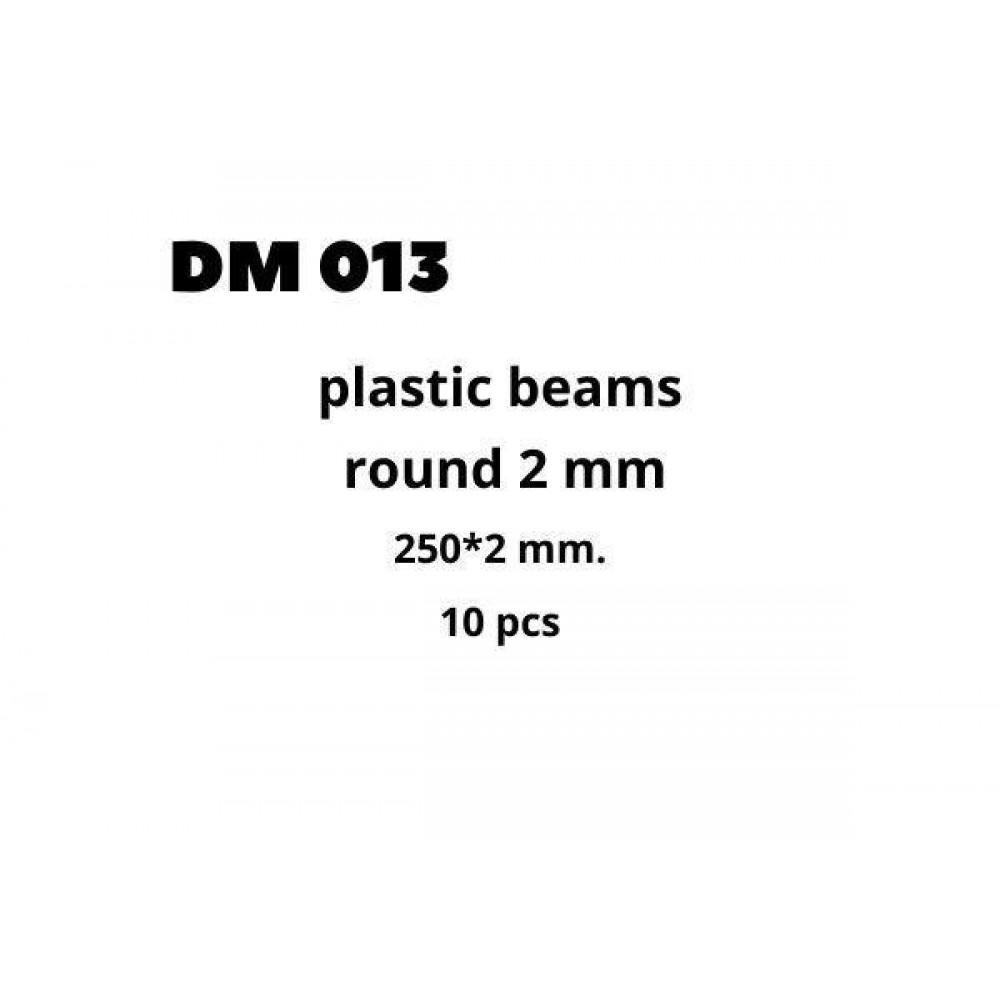 Plastic Beams 2mm 10 pcs  DANmodels DM013