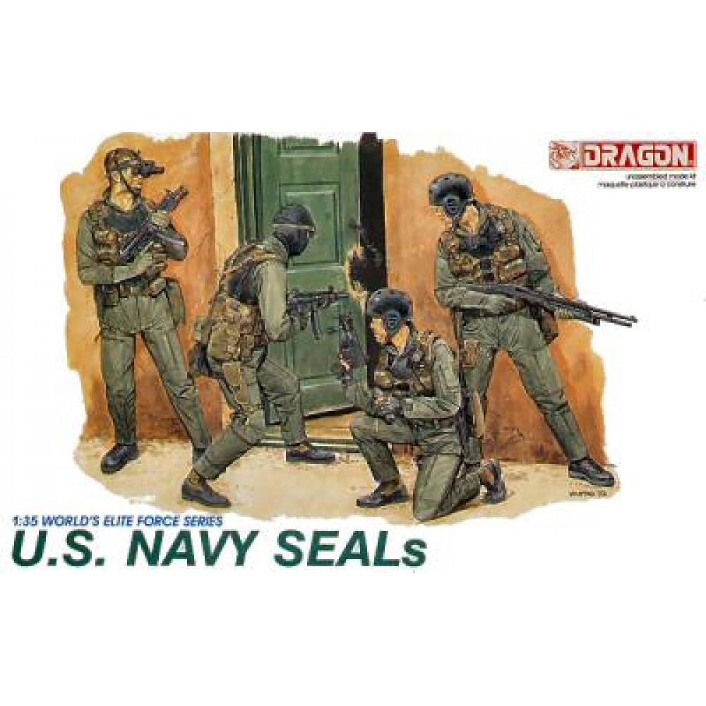 Американская команда подразделения спецназначения ВМФ - SEAL 1/35 Dragon 3017