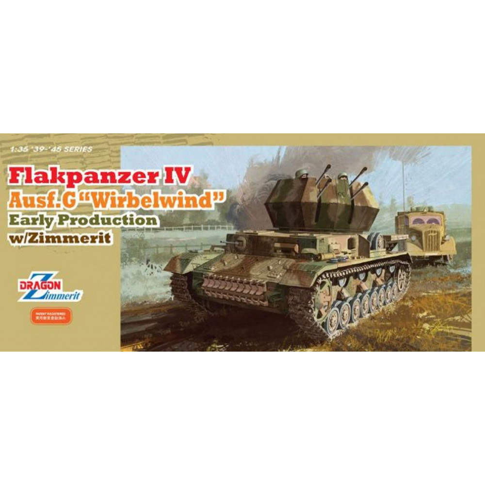 "Немецкая зенитная САУ FlaK.Pz. IV Ausf. G ""Wirbelwind""  1/35 Dragon Models 6565"