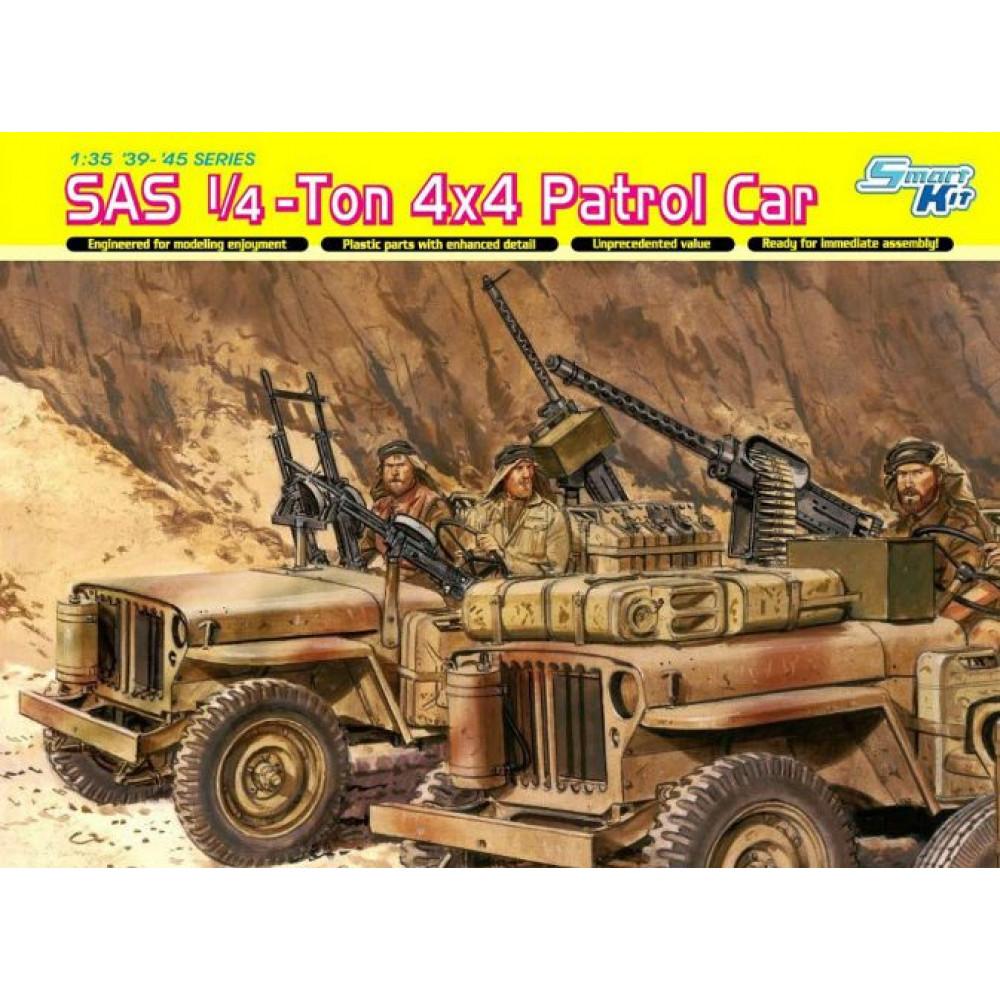 Британская патрульная машина 1/4 тонны 4х4, подразделения SAS (и экипаж) 1/35 Dragon 6745