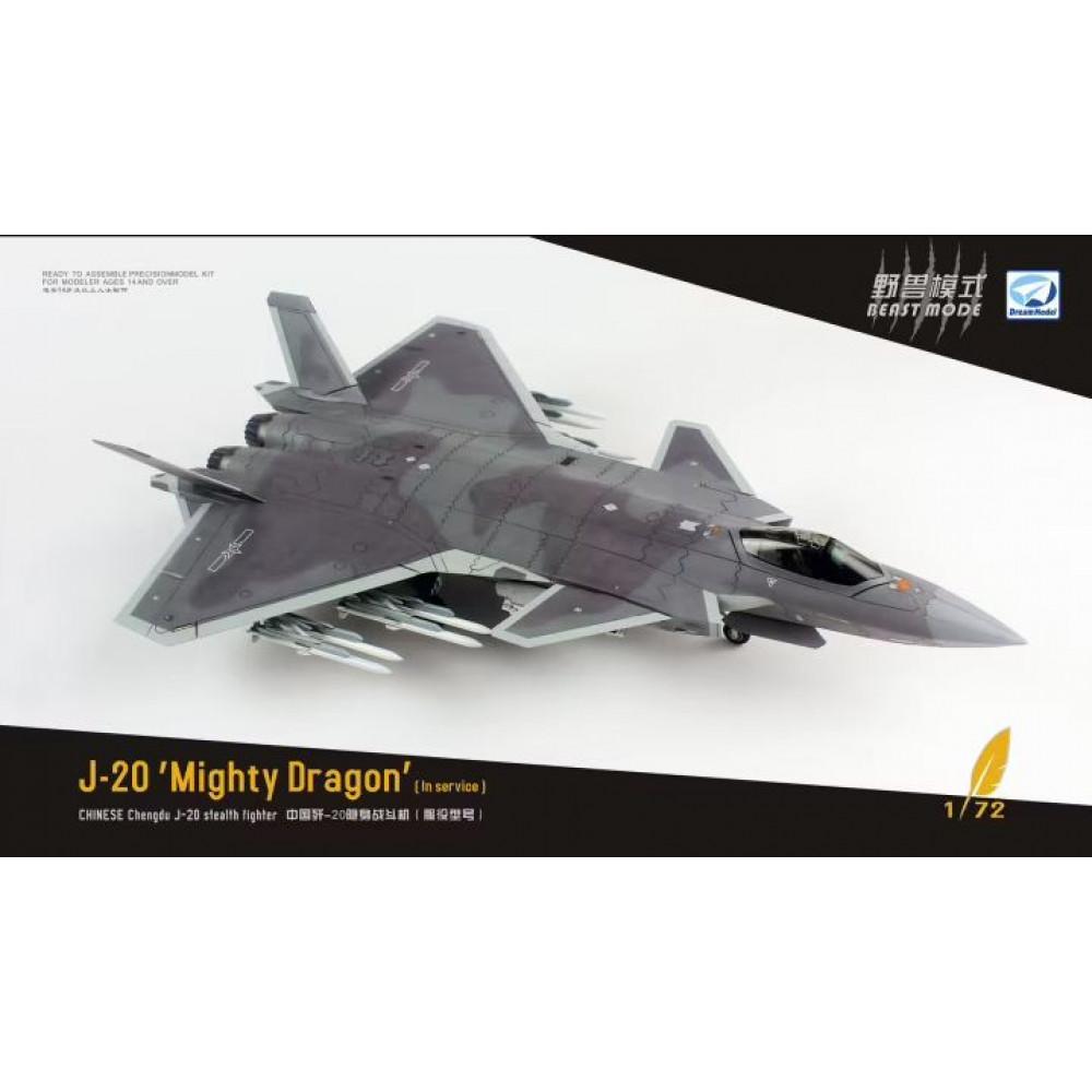 J-20 Stealth Fighter Beast Mode 1/72 Dream Model 720010