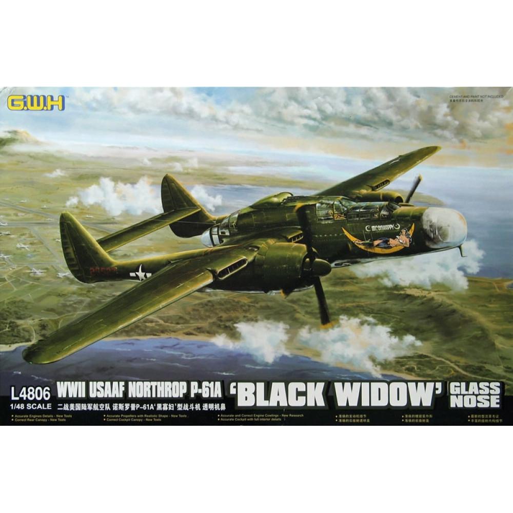 Модель самолета Northrop P-61A «Черная вдова» Прозрачный нос 1/48 Great Wall Hobby GWH L4806
