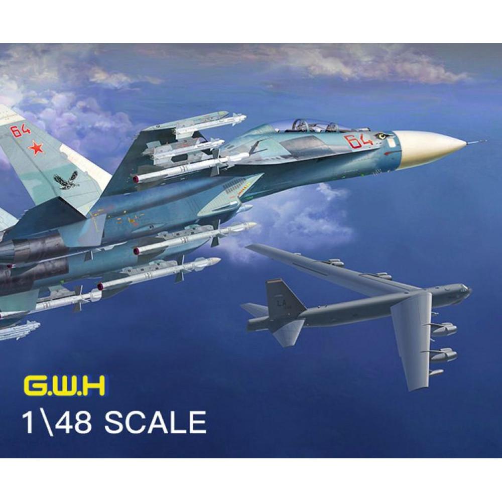 Истребитель Су-27УБ 1/48 Great Wall Hobby GWH L4827