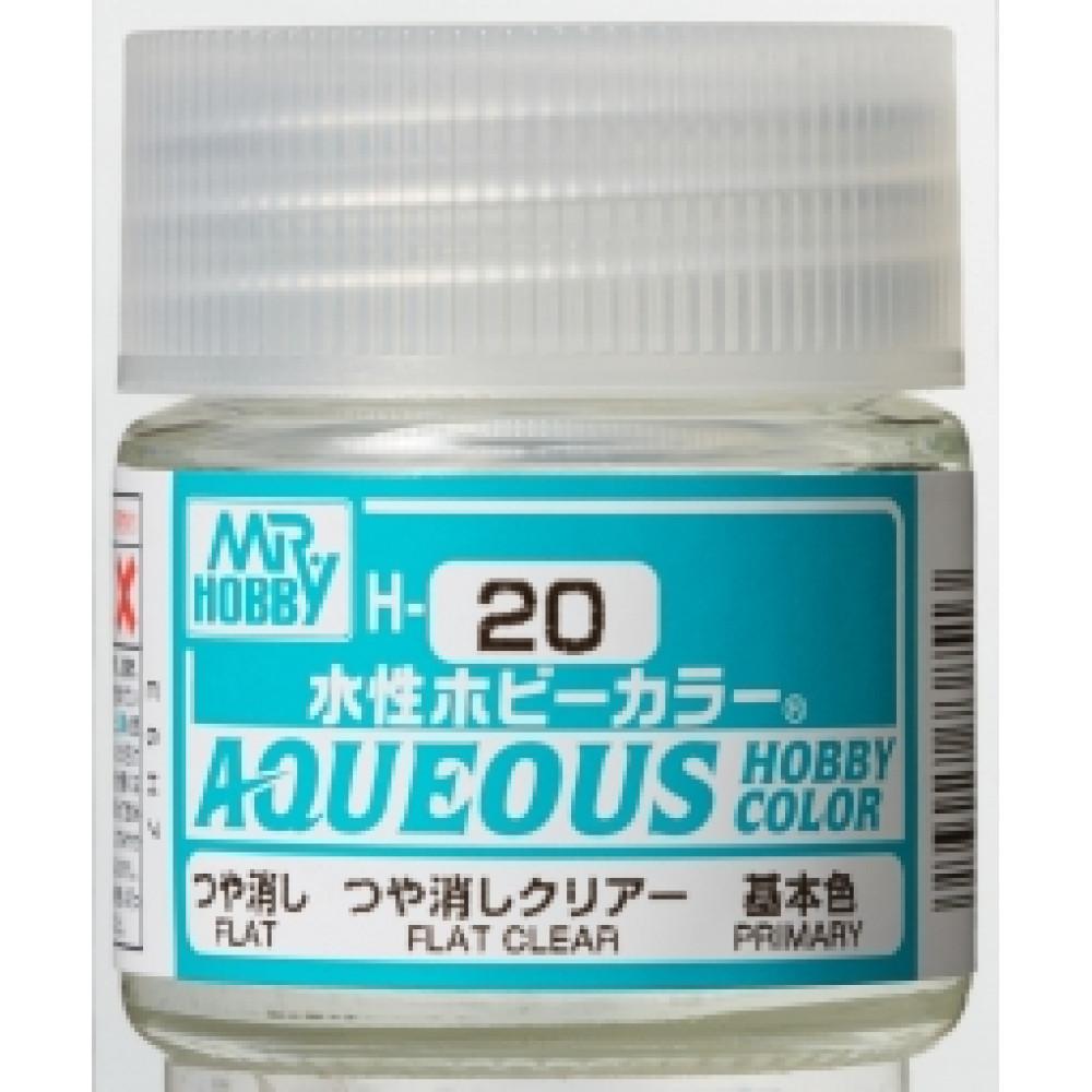 H020 Mr.Hobby - Flat clear (Acryl) 10 ml