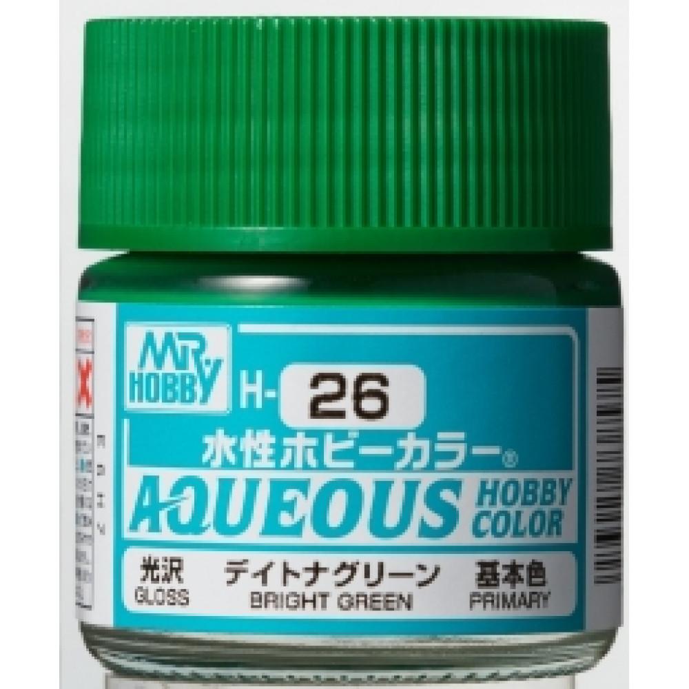 H026 Mr.Hobby - Bright green (Acryl) 10 ml