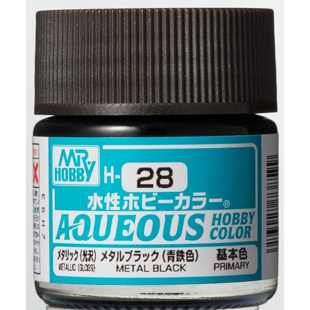 H028 Mr.Hobby - Metal black (Acryl) 10 ml