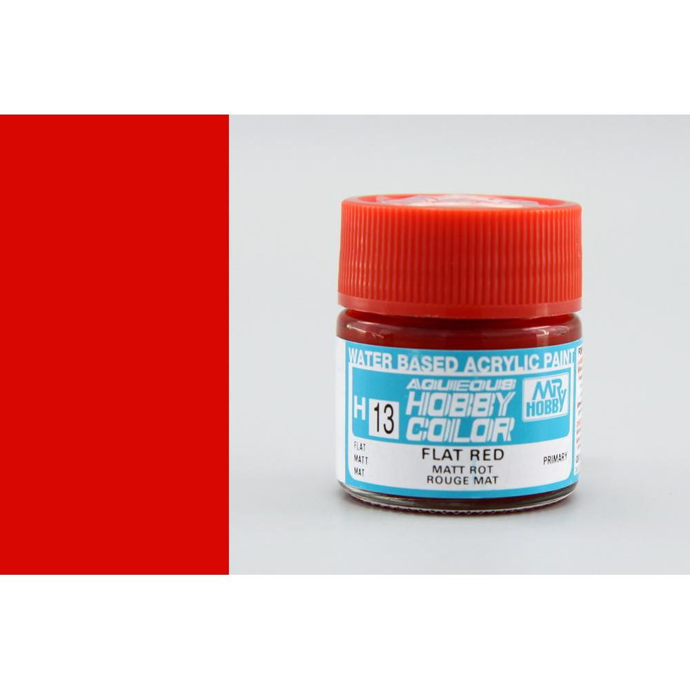 H013 Mr.Hobby - Flat red (Acryl) 10 ml