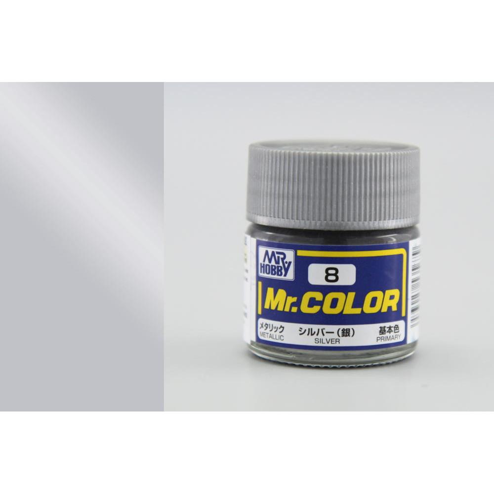 C008 Mr.Color - Silver (Gloss) 10 ml