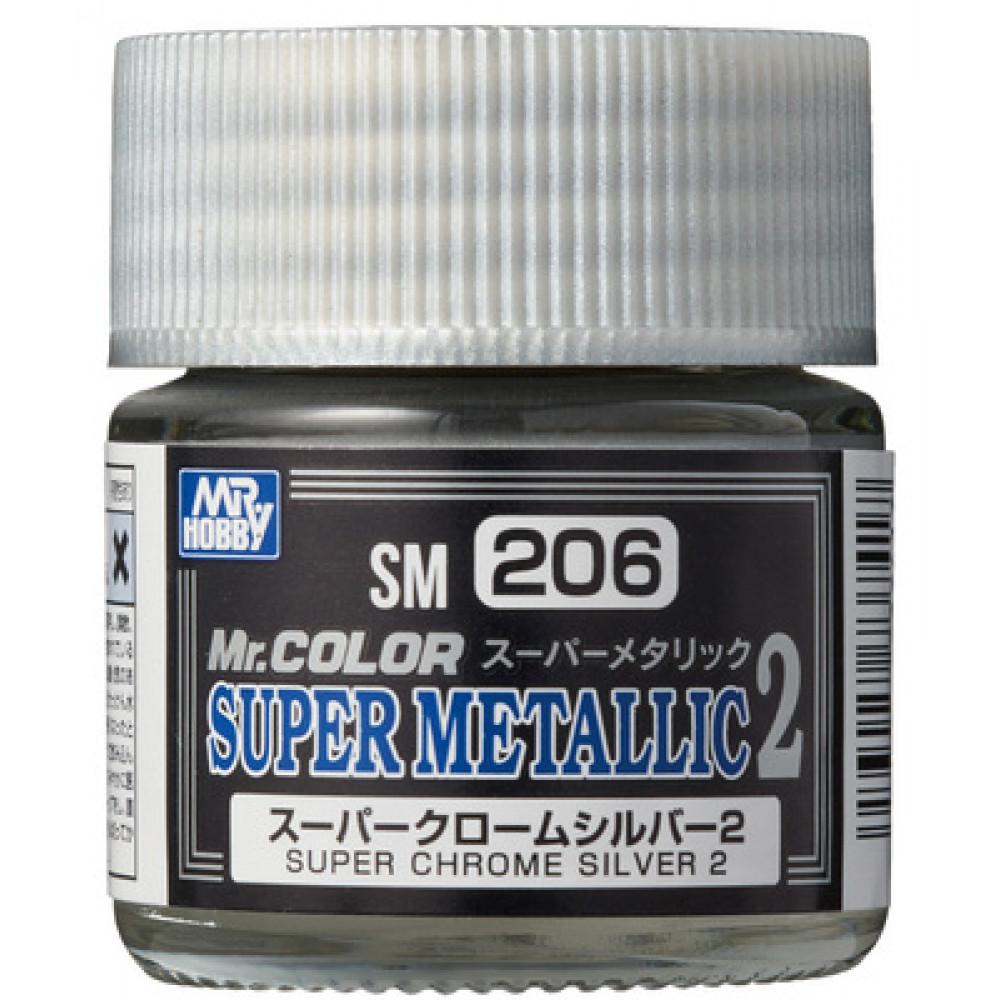SM206 Super CHROME Silver 2 - Super Metallic 2 (10 ml)