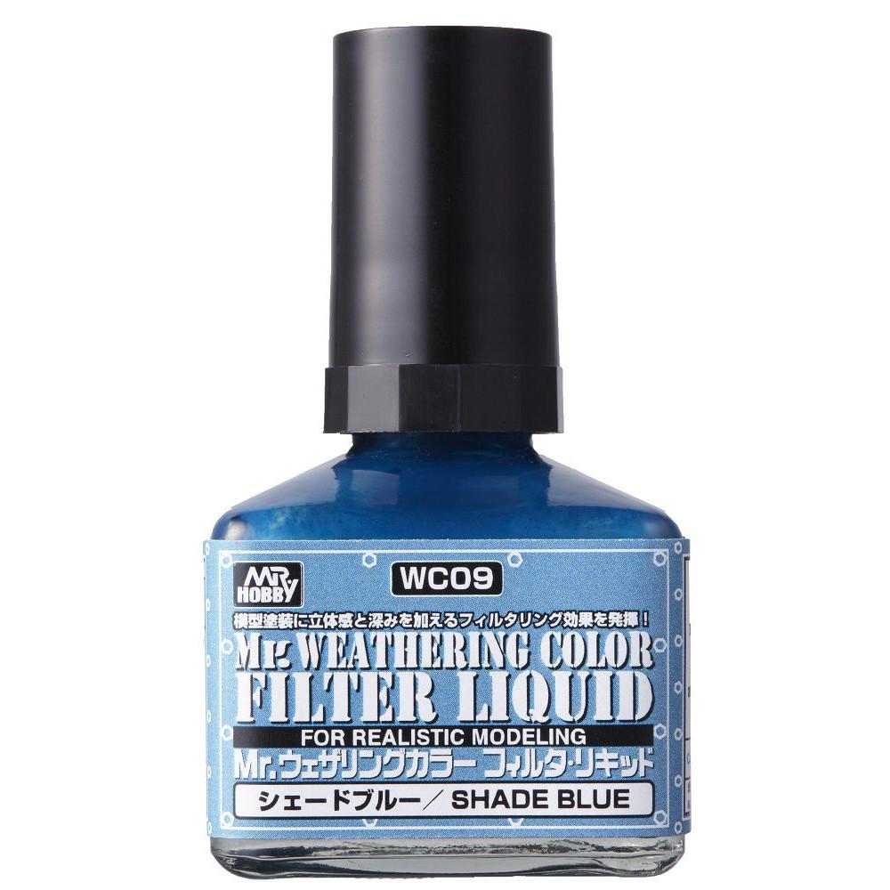 Mr.Weathering Liquid Filter - Shade Blue 40ml Gunze Sangyo WC09