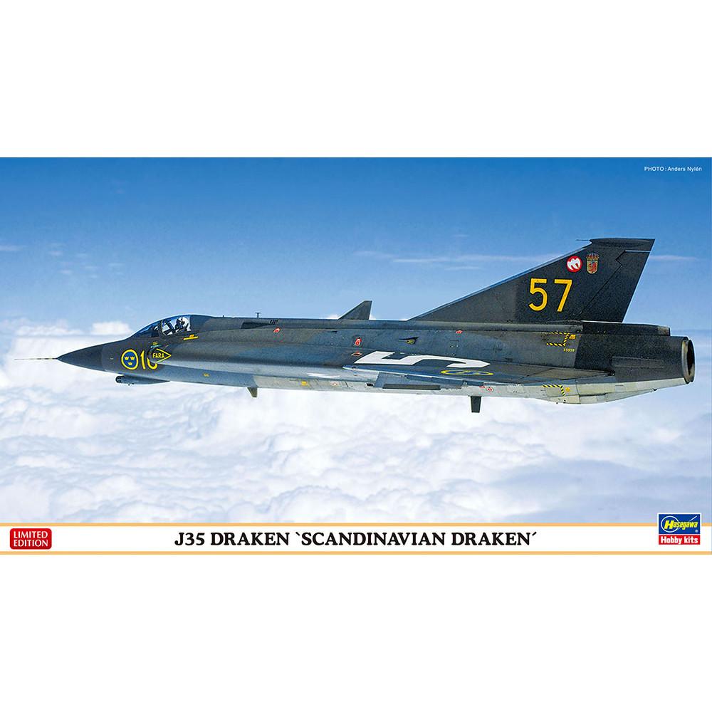 """J35 Draken """"Scandinavian Draken""""   1/72 Hasegawa 02330"""