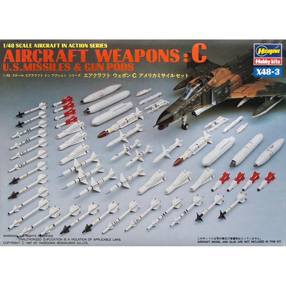 U.S. aircraft weapons (set A)   1/48 Hasegawa 36003