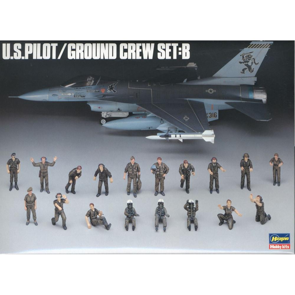 US PILOT/GROUND CREW SET B 1/48 Hasegawa 36005