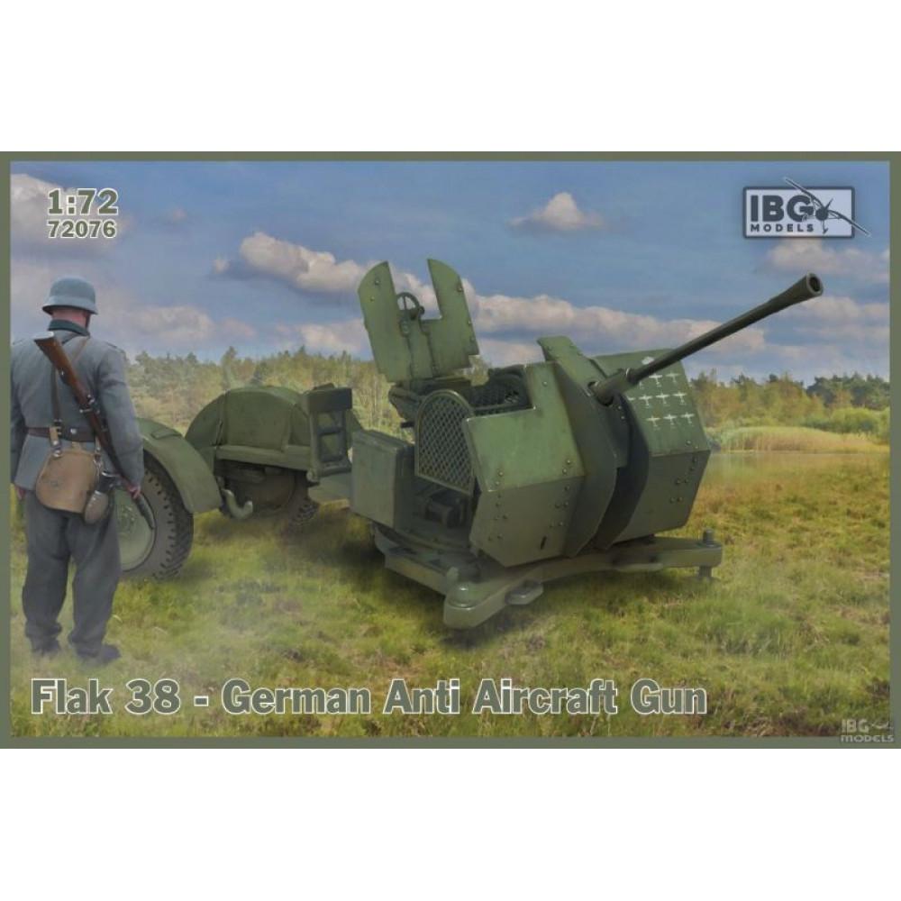 Flak 38 German Anti-Aircraft Gun 1/72 IBG 72076