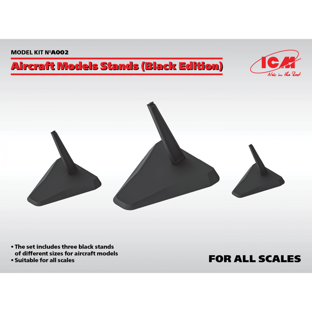 Aircraft models stands 1/144, 1/72 , 1/48, 1/32 ICM A.002