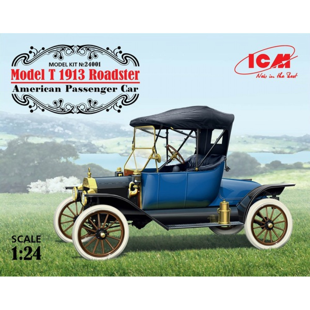 Model T 1913 Roadster, American Passenger Car 1/24 ICM 24001