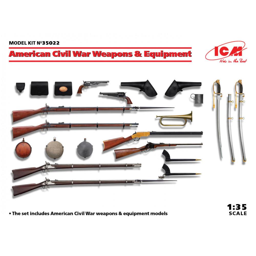 American Civil War Weapons & Equipment 1/35 ICM 35022