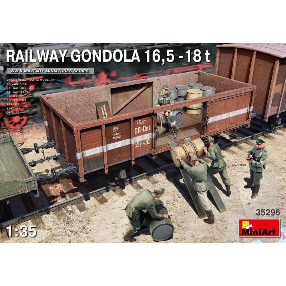 Railway Gondola 16,5t-18t 1/35 MiniArt 35296