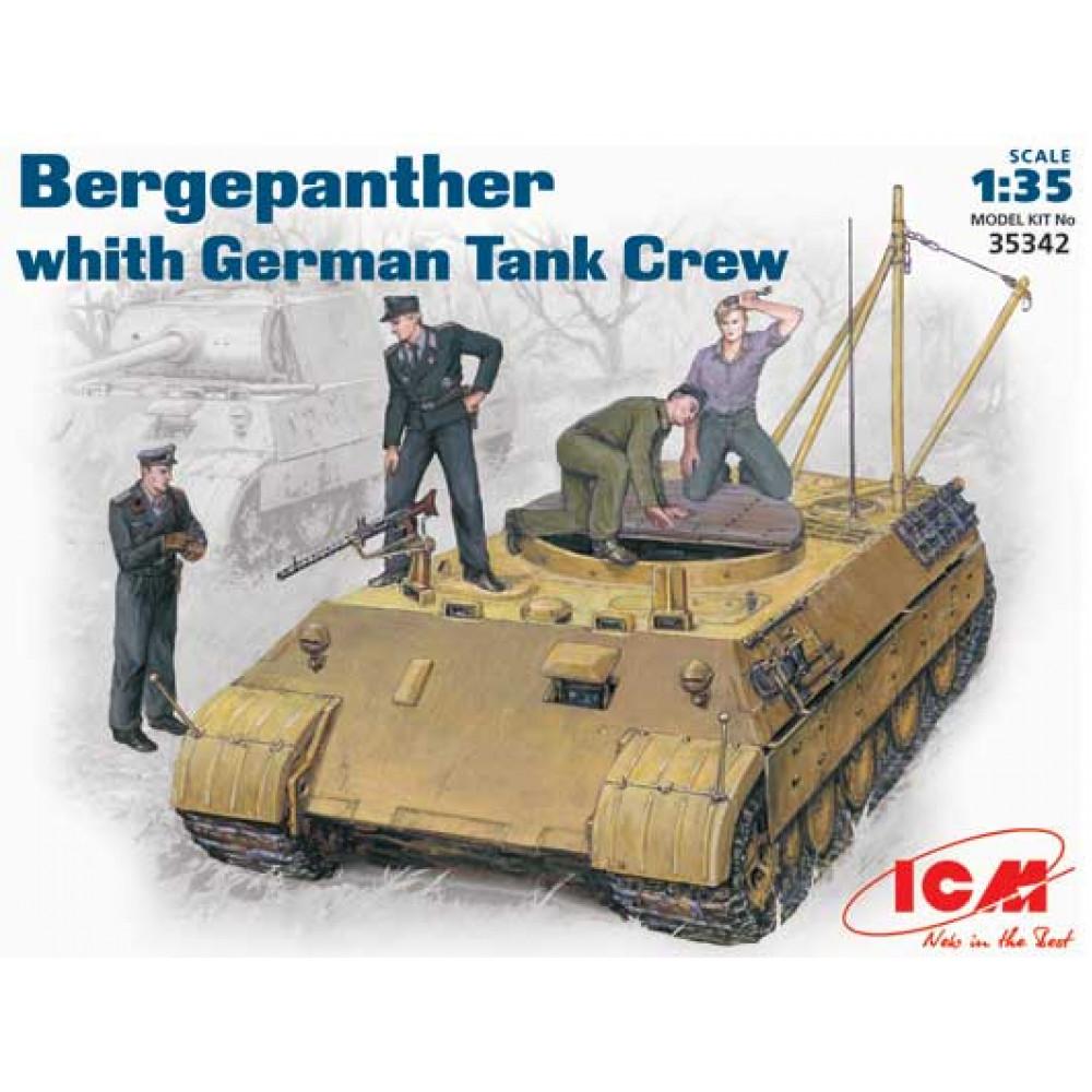 Bergepanther c немецким танковым экипажем   1/35 ICM 35342