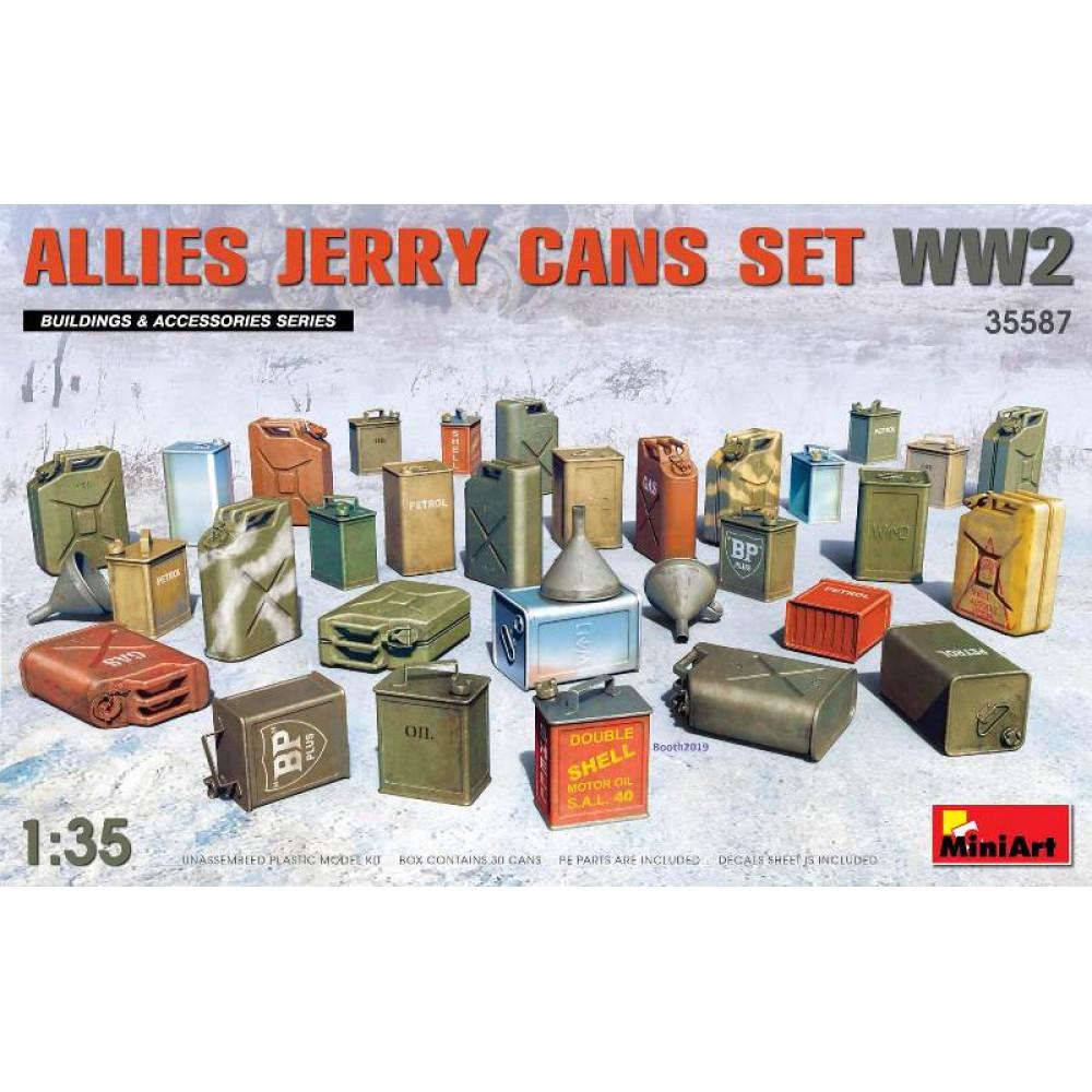 Allies Jerry Cans Set WW2 1/35 MiniArt 35587