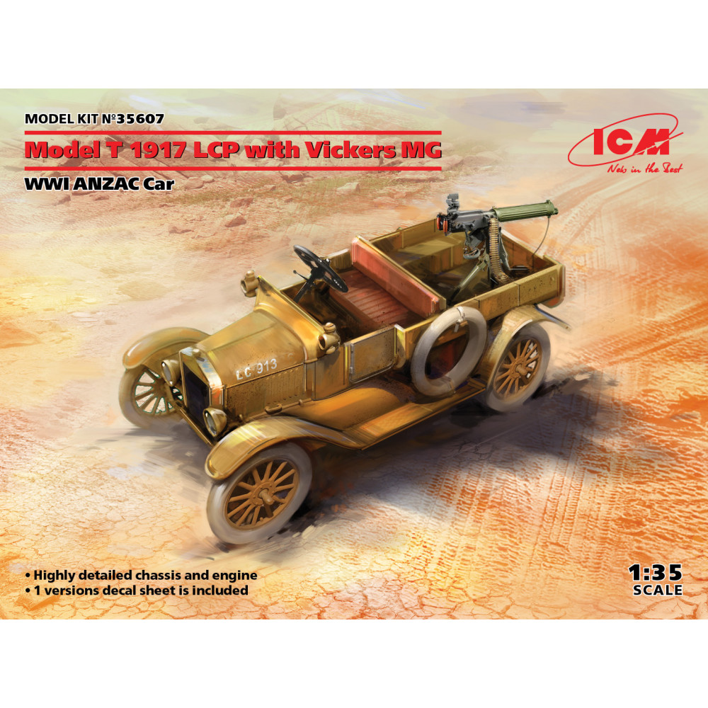 Model T 1917 LCP with Vickers MG 1/35 ICM 35607