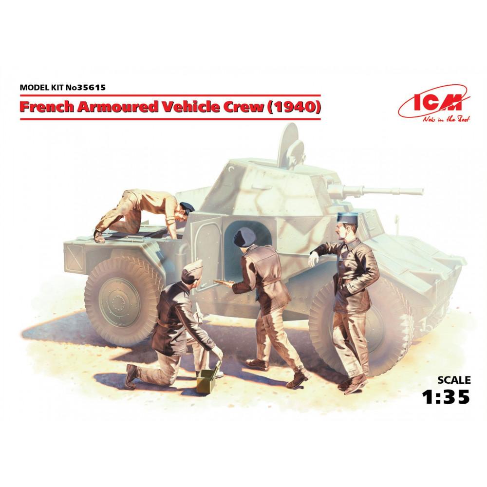 French Armoured Vehicle Crew (1940), (4 figures)    1/35 ICM 35615