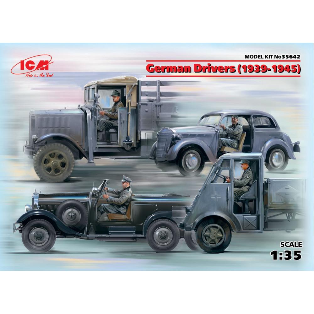 German Drivers (1939-1945) (4 figures)   1/35 ICM 35642