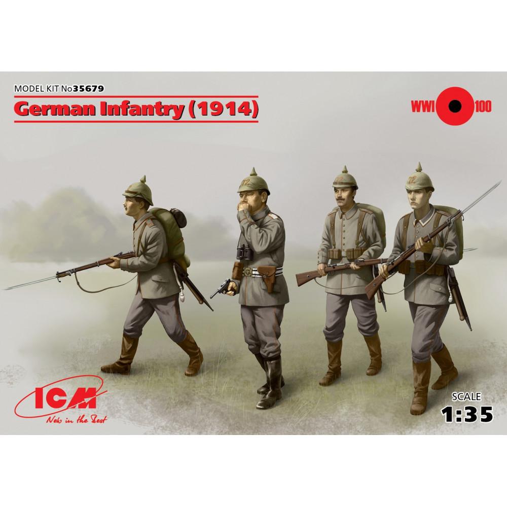 German Infantry (1914), (4 figures) 1/35 ICM 35679