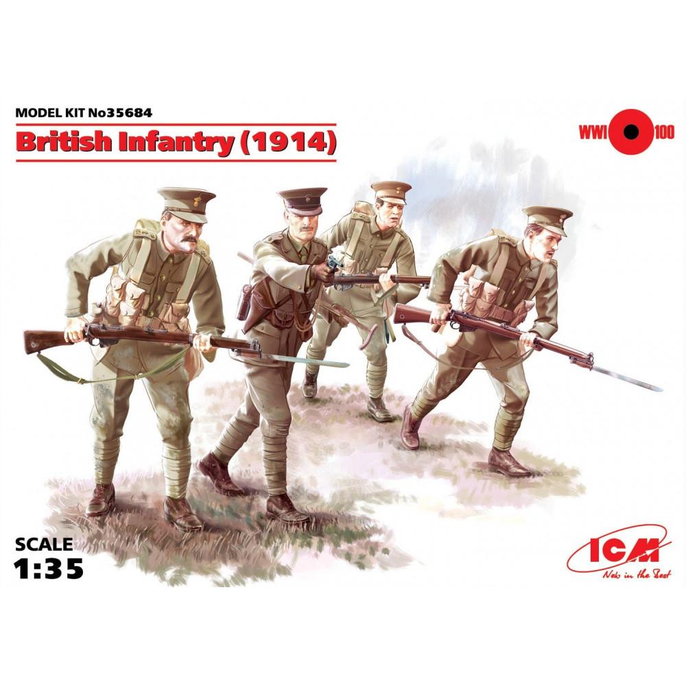 British Infantry (1914), (4 figures) 1/35 ICM 35684