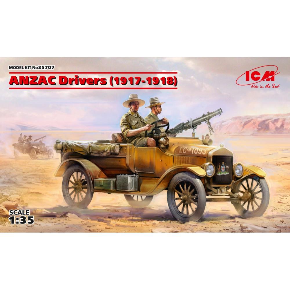 ANZAC Drivers (1917-1918) (2 figures) (100% new molds) 1/35 ICM 35707