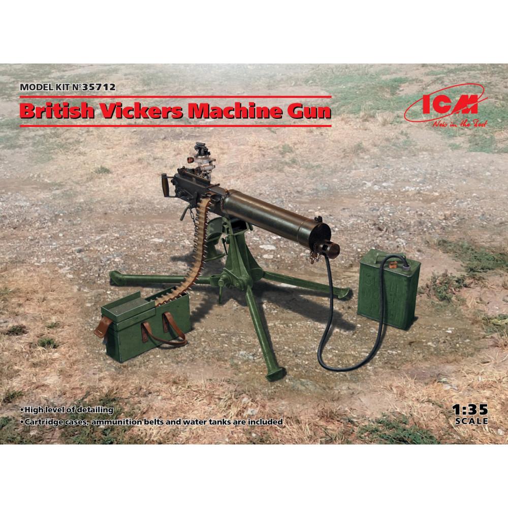 British Vickers Machine Gun 1/35 ICM 35712
