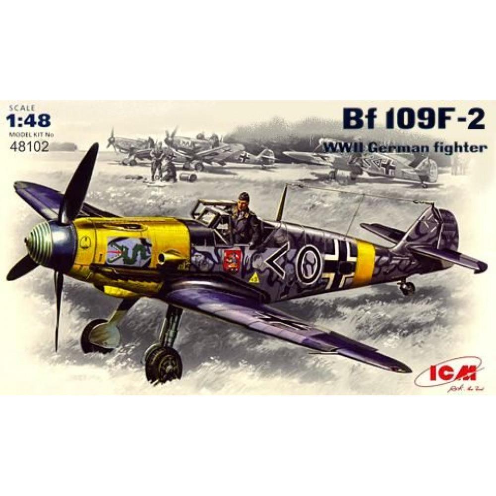 Bf 109F-2, германский истребитель ІІ Мировой войны  1/48  ICM 48102