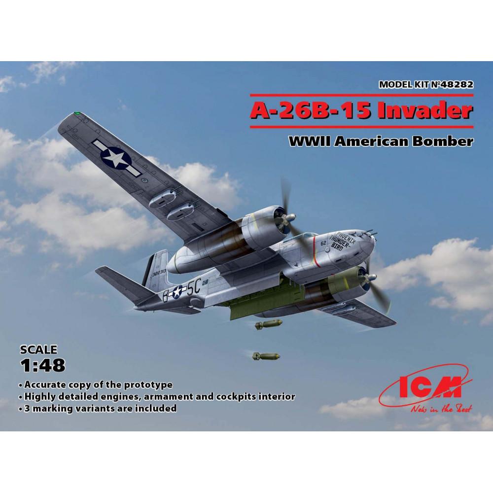 A-26B-15 Invader, Американский бомбардировщик 2 МВ 1/48  ICM 48282