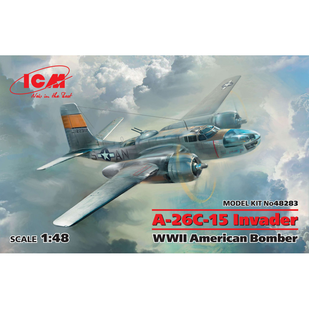 A-26С-15 Invader, WWII Американский бомбардировщик  1/48  ICM 48283