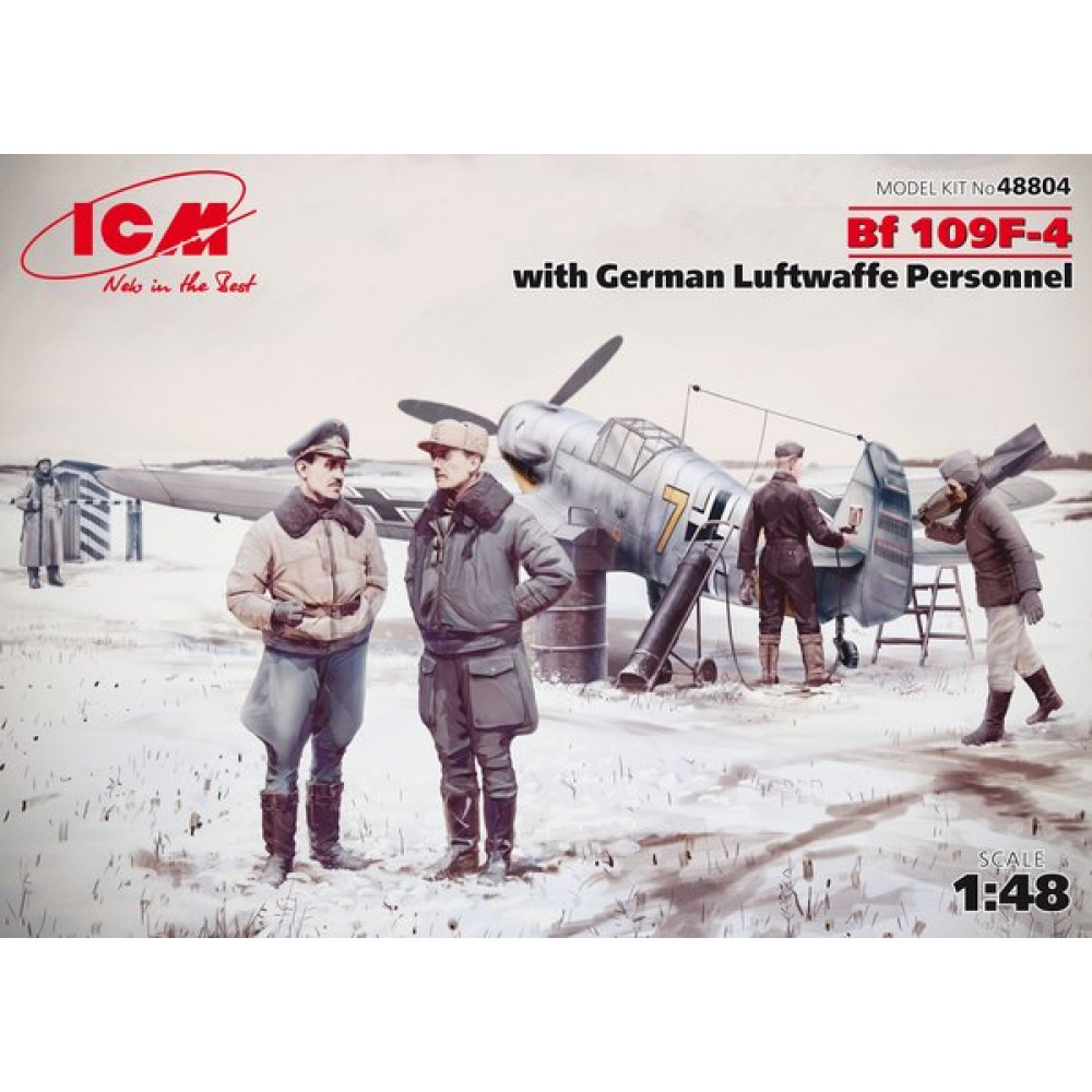 Bf 109F-4 с Германским персоналом Люфтваффе  1/48  ICM 48804