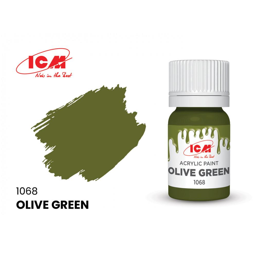 Оливковый зеленый (Olive Green) ICM 1068 (12мл)
