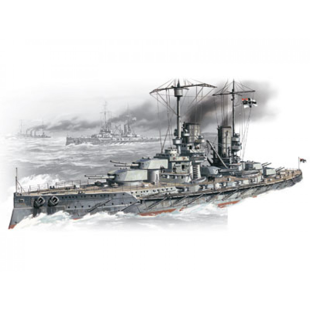 WWI German battleship Grosser Kurfuerst 1/350 ICM S002