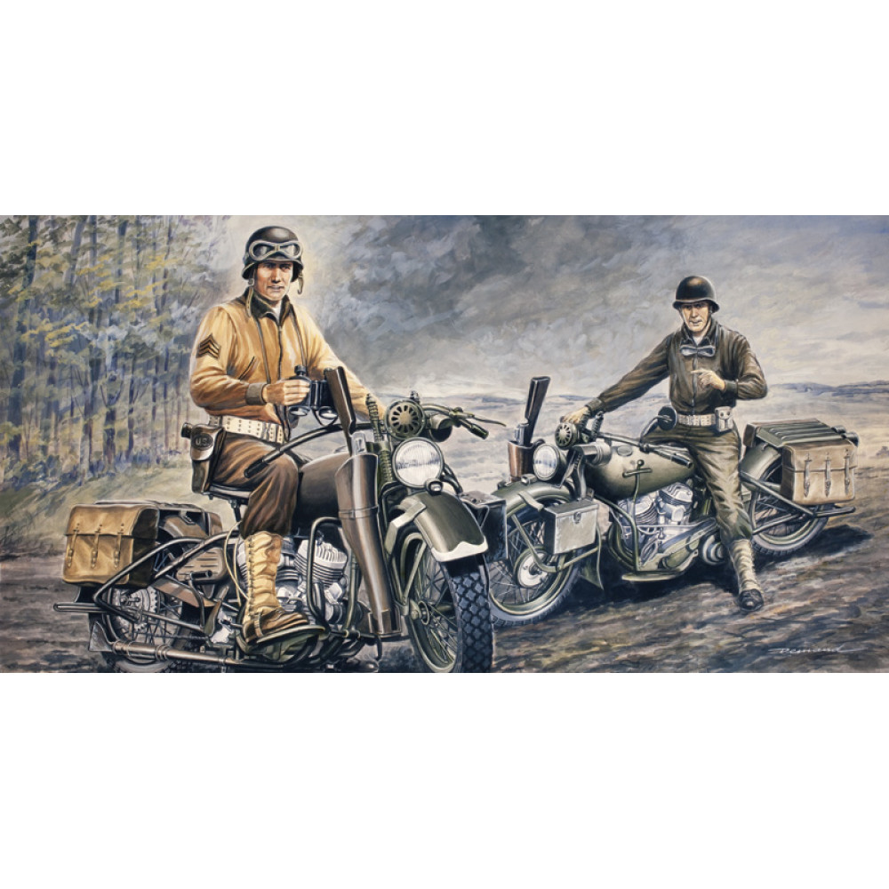 Американские мотоциклы Harley Davidson 1/35 Italeri  0322