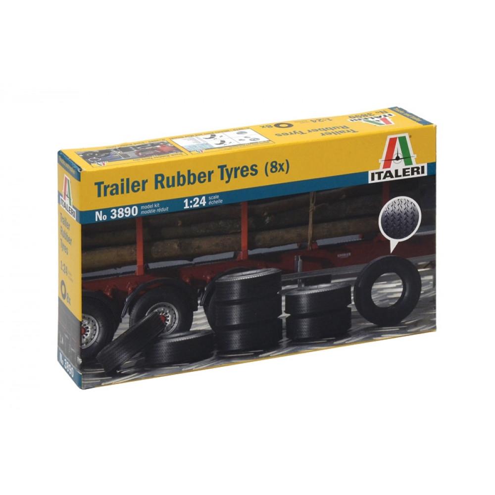Trailer Rubber Tyres 1/24 Italeri 3890
