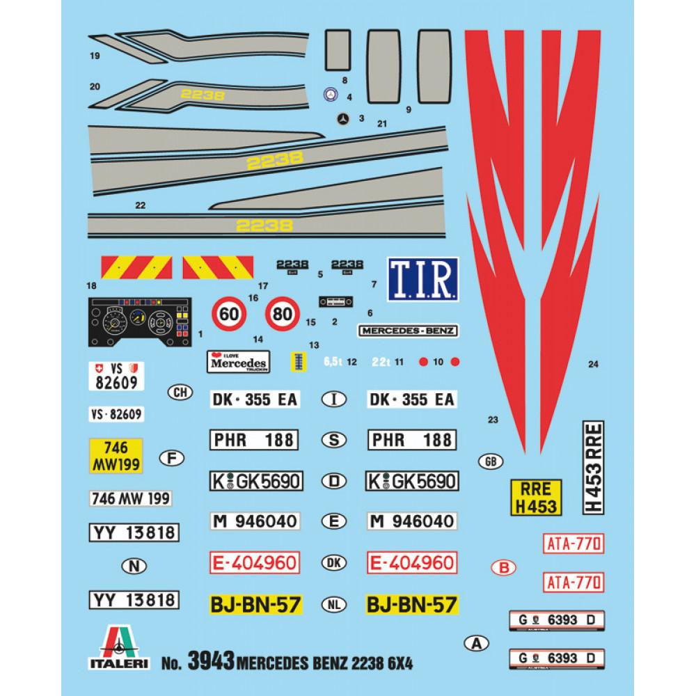MERCEDES BENZ 2238 6x4 1/24  Italeri 3943