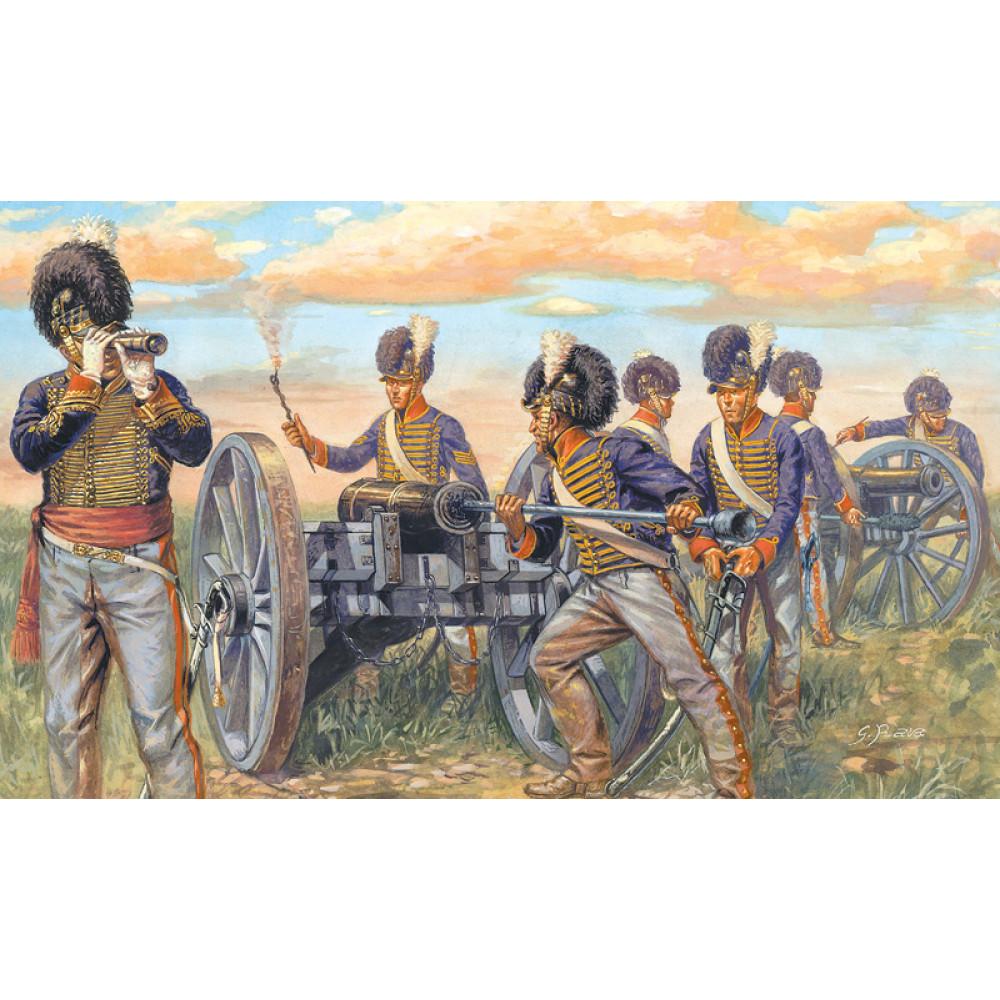 Британская артиллерия. Битва при Ватерлоо 1/72 Italeri  6041