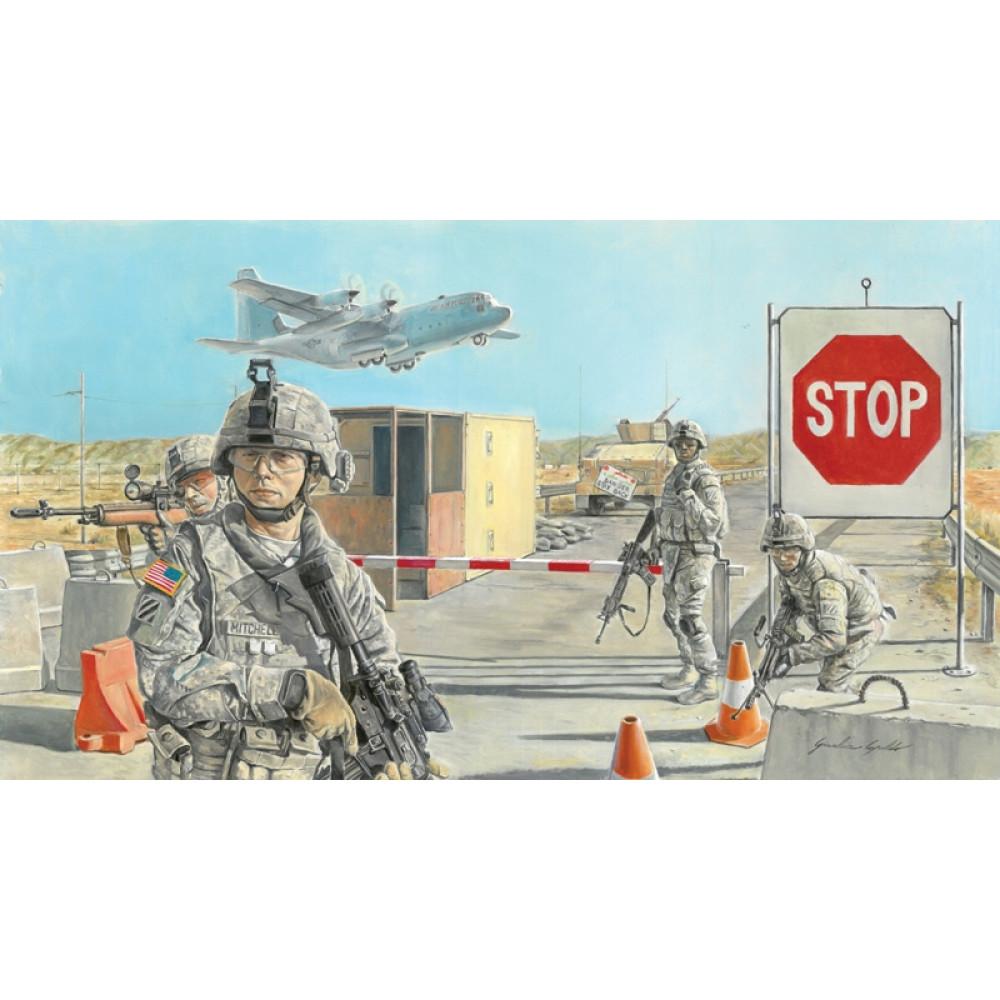 Блокпост та американские солдаты 1/35 Italeri 6521