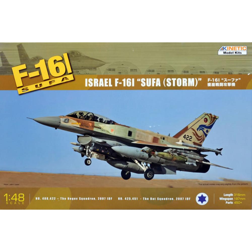 """Самолёт F-16I Isreael F-16I """"SUFA (STORM)""""  1/48 Kinetic 48006"""
