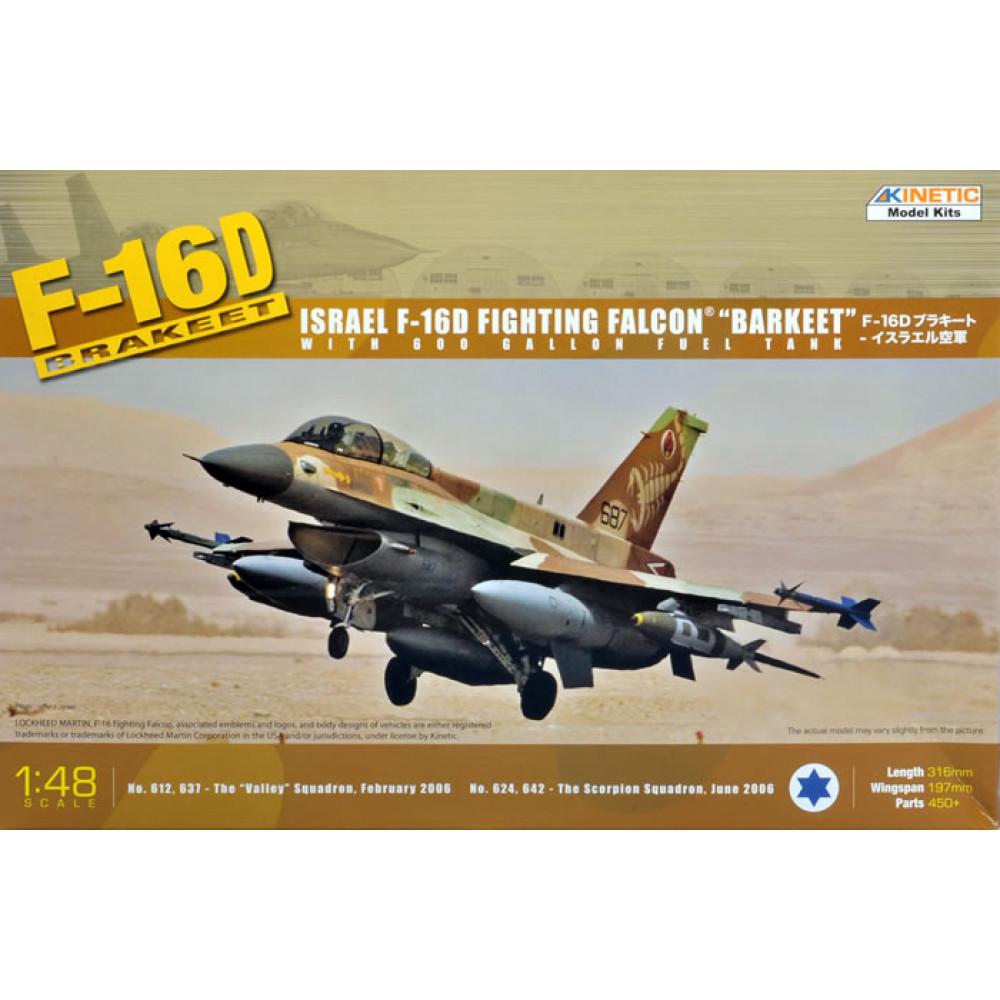 Самолёт F-16D Brakeet (with 600 Gal. fuel tank)  1/48 Kinetic 48009