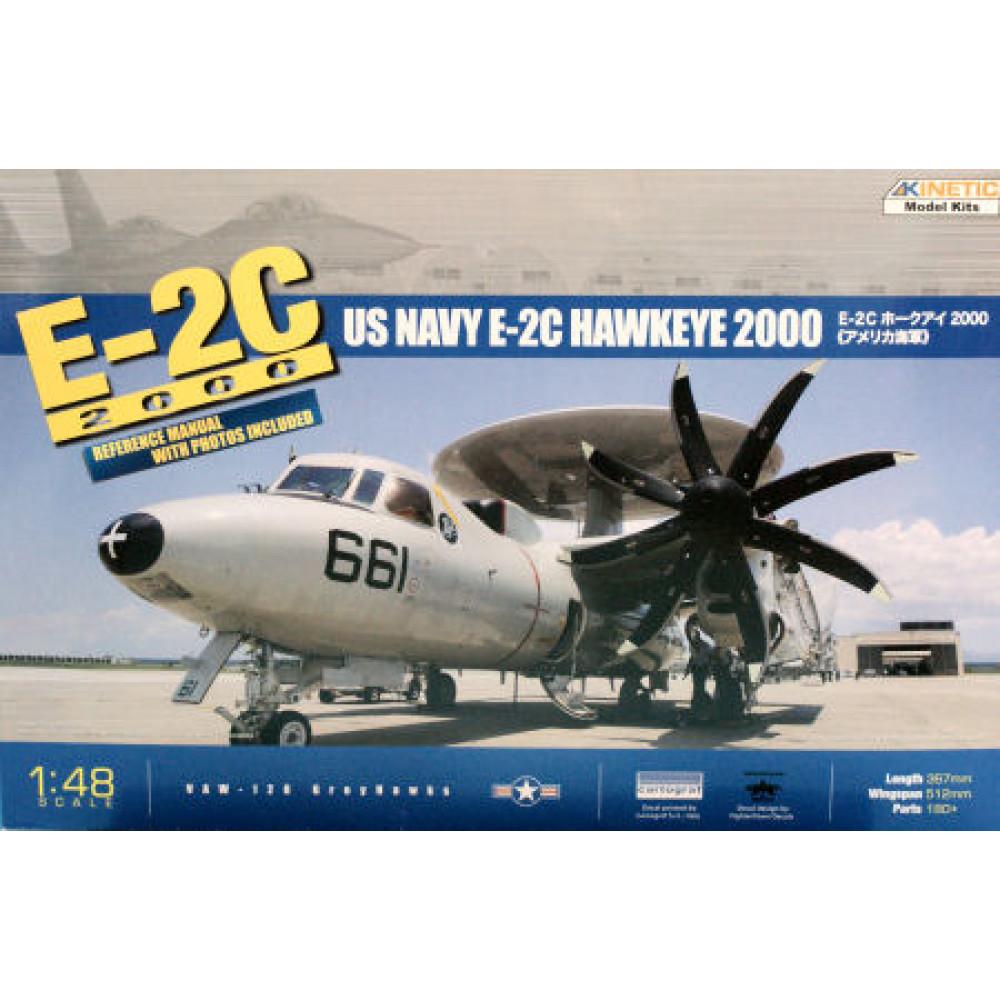 Самолет E-2C US Navy E-2C Hawkeye 2000  1/48 Kinetic 48016