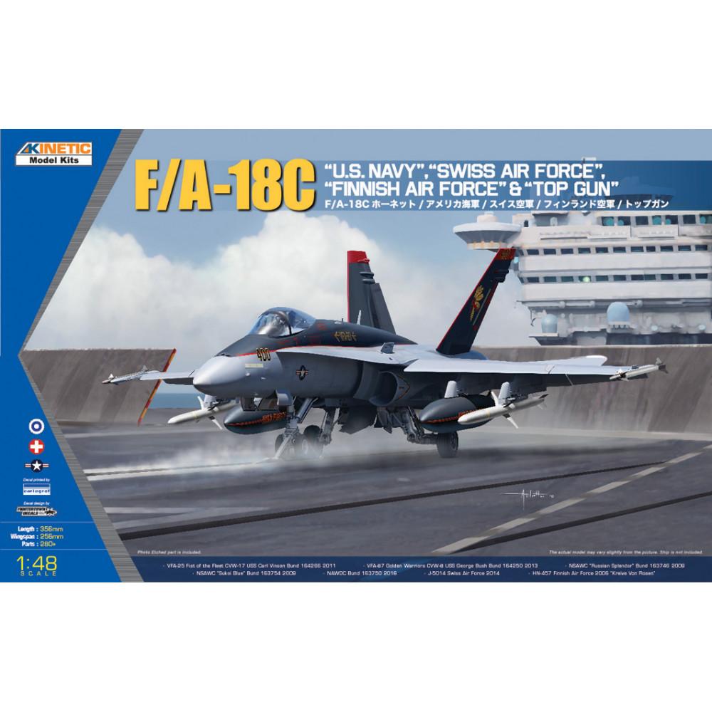 F/A-18C US Navy, Swiss & Topgun  1/48 Kinetic 48031
