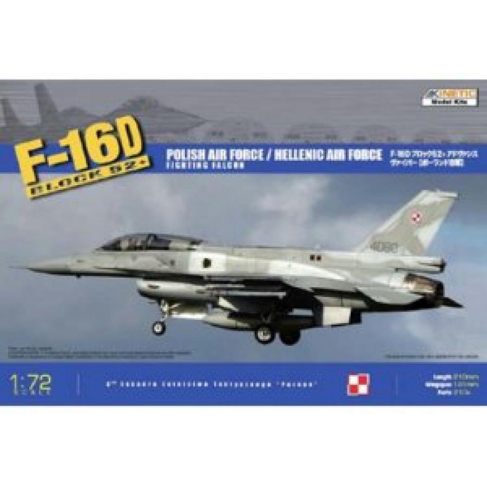 Самолёт F-16D BLOCK 52+ 1/72  Kinetic 72002