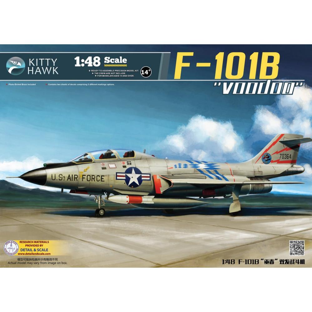 """Американский истребитель F-101B """"Voodoo"""" 1/48 Kitty Hawk 80114"""