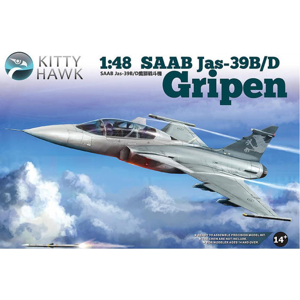 Истребитель Saab JAS 39 B/D Gripen  1/48 Kitty Hawk 80118