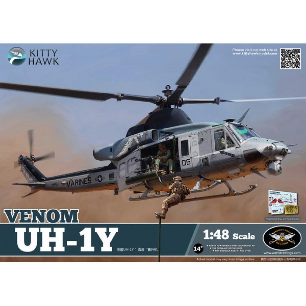 Вертолет UH-1Y  1/48 Kitty Hawk 80124